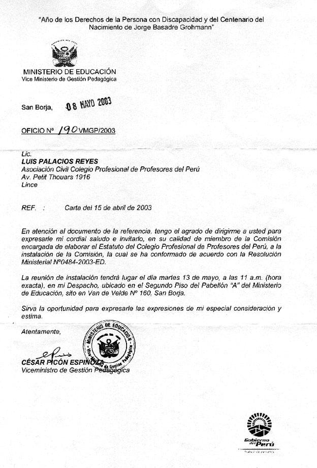 ... ministerio de educacion por mandato judicial del 48 juzgado civil de